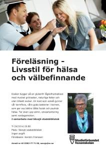 Föreläsning Livsstil för hälsa och välbefinnande i Sävsjö